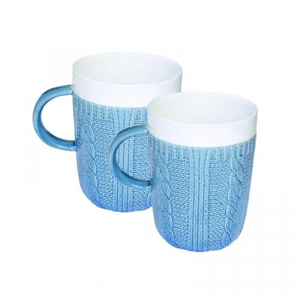 Zestaw porcelanowych kubków w opakowaniu 2 szt. Nuova R2S niebieski 008 BLUE
