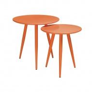 Zestaw stolików King Home Leo pomarańczowy