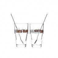 Zestaw szklanka + łyżeczka do Latte x2 Leonardo Solo