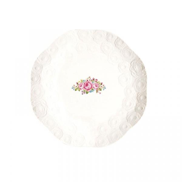 Zestaw talerzy deserowych 4szt 19cm Nuova R2S Jardin de Roses 1254 DERO