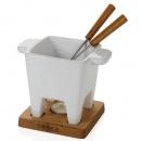 Zestaw Tapas Fondue biały, poj. 200ml, dąb