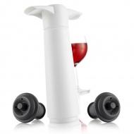 Zestaw z pompką do wina 22,2x8,5x4,3 cm Vacu Vin biały
