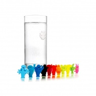 Znaczniki na szklanki Vacu Vin Glass Markers Party People