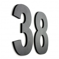 Znak informacyjny NUMER I LITERA NA DOM 15 cm 1 szt. czarny