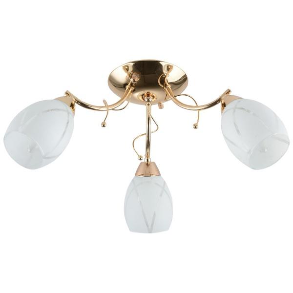 Żyrandol 28x52cm Lampex Yoko 3 biało-złoty 598/3