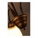 Żyrandol Wezuwio 3 brąz + złoto